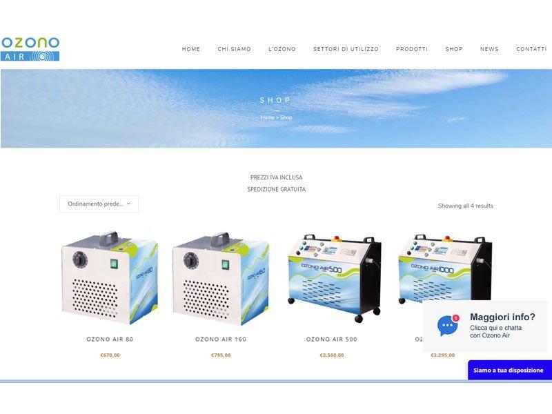 generatori ozono per lavanderia gettoni