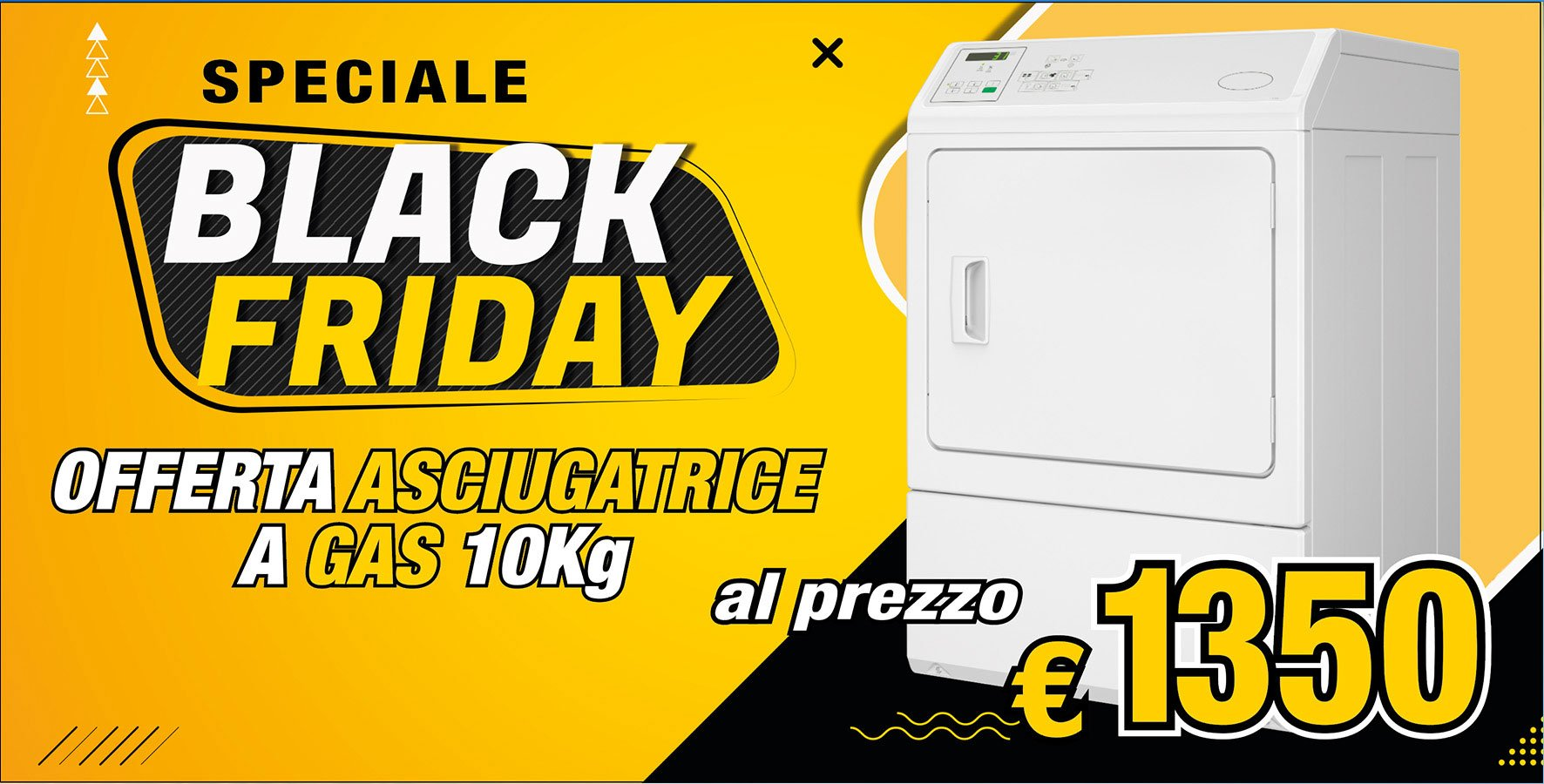 asciugatrice gas Black friday